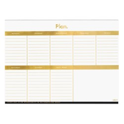 A4 WEEKLY PLANNER PAD GOLD: ESSENTIALS