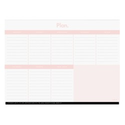 A4 WEEKLY PLANNER PAD MUSK: ESSENTIALS