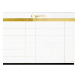 A4 WEEKLY FAMILY PLANNER PAD GOLD: ESSENTIALS