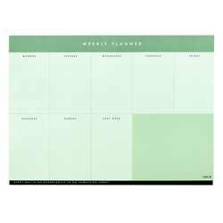 A4 WEEKLY PLANNER PAD THYME: ESSENTIALS