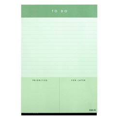 A5 TO DO LIST PAD THYME: ESSENTIALS