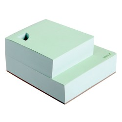 NOTEPAD CUBE PASTEL GREEN: ESSENTIALS