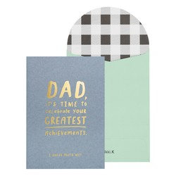A6 GREETING CARD ACHIEVEMENTS CHARCOAL BLACK: FATHER'S DAY