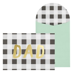 A6 GREETING CARD DAD CHARCOAL BLACK