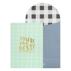 A6 MEMORY BOOKLET GREETING CARD DESERT SAGE: FATHER'S DAY
