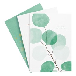 A5 KINDNESS JOURNALS 3PK WHITE/THYME: KINDNESS