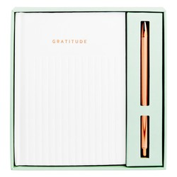GRATITUDE JOURNAL GIFT SET WHITE: KINDNESS