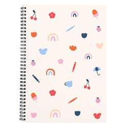 A4 SPIRAL NOTEBOOK PALE PEACH: MALALA FUND COLLABORATION
