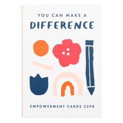 EMPOWERMENT CARDS 52PK PALE PEACH: MALALA FUND COLLABORATION