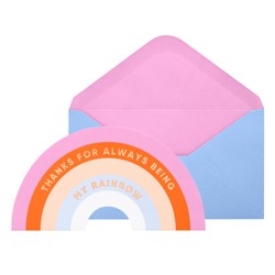 GREETING CARD RAINBOW CANDY PINK: MALALA FUND COLLABORATION