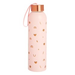 STAINLESS STEEL DRINK BOTTLE 650ML BLUSH: MALALA FUND COLLABORATION