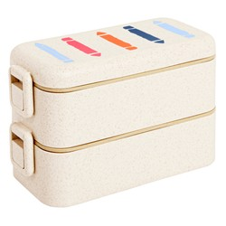 STACKABLE LUNCH BOX NATURAL: MALALA FUND COLLABORATION