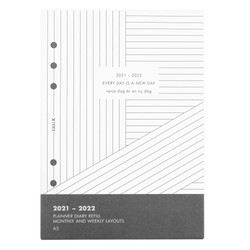 21/22 A5 MONTHLY AND WEEKLY PLANNER REFILL WHITE