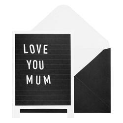 A6 DIY MESSAGE BOARD CARD BLACK: FLORAL BALLET PINK