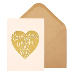 A6 GREETING CARD LOVE YOU: FLORAL BALLET PINK