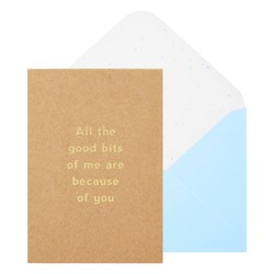 A6 GREETING CARD ALL THE GOOD BITS KRAFT: MOTHER'S DAY