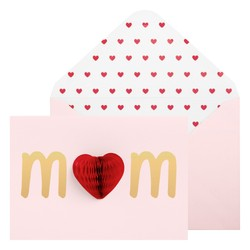 A6 GREETING CARD MUM BALLET PINK: MOTHER'S DAY