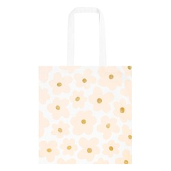 CANVAS TOTE BAG FLORAL BALLET PINK: MOTHER'S DAY