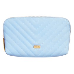 QUILTED CURVE POUCH BLUEBELL: NOTEWORTHY