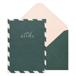 A6 GREETING CARD FOREST GREEN: OUT OF OFFICE