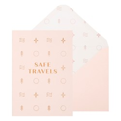 A6 GREETING CARD SAFE TRAVELS STONE: OUT OF OFFICE