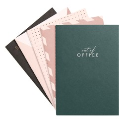 A6 STITCH NOTEBOOK 5PK MULTI: OUT OF OFFICE