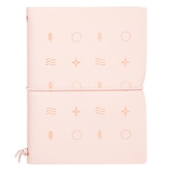 A6 REFILLABLE LEATHER NOTEBOOK BLUSH: OUT OF OFFICE