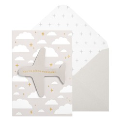 A6 GREETING CARD AEROPLANE STONE: OUT OF OFFICE
