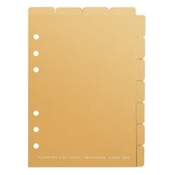 B6 TAB DIVIDER SET 2PK GOLD: OWN YOUR DAYS