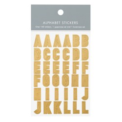 ALPHABET STICKERS GOLD: OWN YOUR DAYS