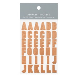 ALPHABET STICKERS ROSE GOLD: OWN YOUR DAYS