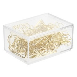 PAPER CLIPS 60PK ASSORTED SHAPES GOLD: OWN YOUR DAYS