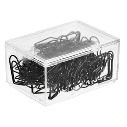 PAPER CLIPS 60PK ASSORTED SHAPES BLACK: OWN YOUR DAYS