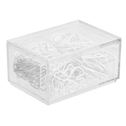 PAPER CLIPS 60PK ASSORTED SHAPES WHITE: OWN YOUR DAYS