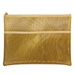 MESH ORGANISER POUCH GOLD: OWN YOUR DAYS
