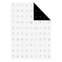 INDIVIDUAL WRAPPING PAPER BLACK/WHITE: OWN YOUR DAYS