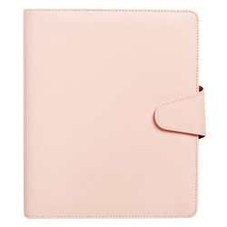 A5 LEATHER PERSONAL PLANNER BLUSH: SIGNATURE EDITION