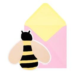 GREETING CARD BEE LEMON: SLOW