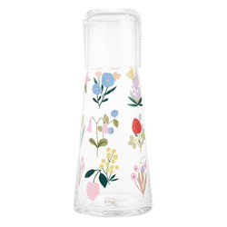 GLASS WATER BOTTLE WITH CUP CLEAR: SLOW