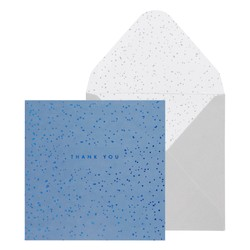 SQ GREETING CARD THANK YOU BLUE: GREETING CARDS (OUTLET)