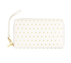 LEATHER CONTINENTAL WALLET ZIP: PAUSE GULD
